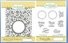 Taylored Expressions Cling Stamp Combo GARDEN PARTY BACKGROUND/NOTEWORTHY ~92/11