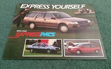 DODGE COLT EXPRESS PACS 1988 USA BROCHURE Mitsubishi Colt Lancer DL Premier