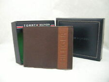 Authentic Tommy Hilfiger Double Billfold Brown Men's Wallet