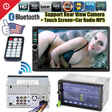 "7"" Bluetooth HD Touch Screen Double 2DIN Car Stereo MP5 MP3 Player FM USB Radio"