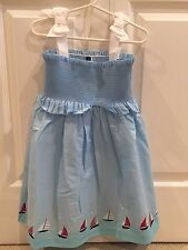 NWT Janie AND Jack  Sailboat Dress Size 4 4T - Light Blue