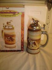 Vintage Budweiser Stein: Animals of the Prairie Wild Mustang 1997 MIB  9292