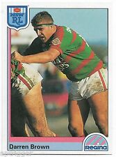 1992 NSW Rugby League REGINA Base Card (24) Darren BROWN Rabbitohs