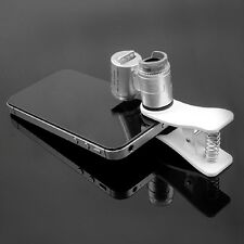 Hotsale Money Tester 60X Pocket Microscope Magnifier Glass LED Light Clip