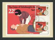 GB UK MK DUKE OF EDINBURGH`S AWARD GUTTER PAIR !! MAXIMUM CARD MC CM 60554