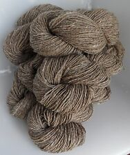 625g of BROWN TWEED 100% PURE KNITTING WOOL - 6 SKEINS (HUNTERS OF BRORA)