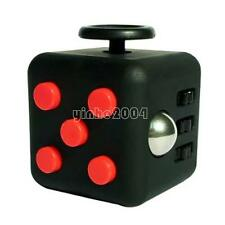 Black Red Fidget Cube Anxiety Stress Relief Focus Adults Kids Attention Therapy