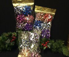 """18 LARGE """"GIFT DECORATION BOWS"""" PARCELS, WRAPPING. GIFTS. STICK ON BACKS"""