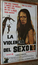 Used - Cartel de Cine  LA VIOLENCIA DEL SEXO  Vintage Movie Film Poster - Usado