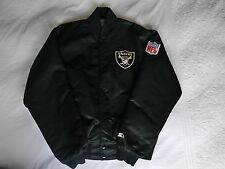 "Vintage Raiders Starter Jacket XL ""Made In USA"" Chuck D Public Enemy NFL"