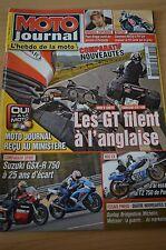 MOTO JOURNAL N°1899 SUZUKI GSXR 750 YAMAHA TZ 750 PATRICK PONS BMW R1200 RT 2010