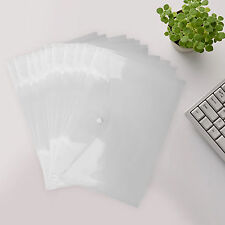 12-48 PLASTIC A4 DOCUMENT WALLETS PAPER STORAGE FOLDERS FILING SCHOOL OFFICE BAG