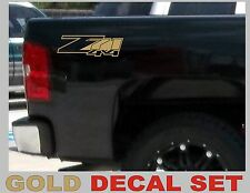 Z71 4x4 Truck Bed Decals, Gold Metallic (Set) for Chevrolet Silverado