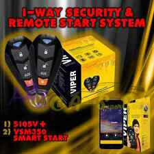 NEW VIPER 5105V 2015 MODEL 1 WAY CAR ALARM REMOTE START + VSM350 GPS SMART START