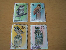 ZIMBABWE BIRDS SET,4 VALS,F/USED.EXCELLENT.