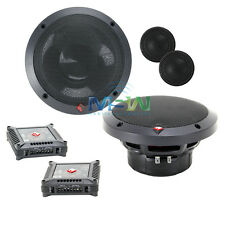 "ROCKFORD FOSGATE T1650-S POWER 6-1/2"" 2-WAY CAR AUDIO COMPONENT SPEAKERS SYSTEM"