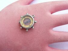 FAB ANTIQUE SOLID SILVER POCKET WATCH COMPASS FOB BIRMINGHAM 1903 IN FWO