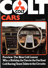 Colt Cars Magazine No 3 Autumn/Winter 1979 UK Market Brochure Lancer Sapporo