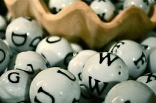 50 LARGE SIZE Ceramic letter bingo glass alphabet balls***free shipping**