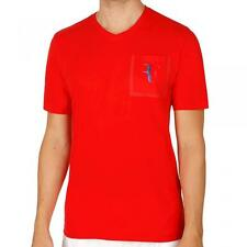 Nike Roger Federer Stealth Pocket Tee, per adulti Medium in ROSSO con vari loghi RF
