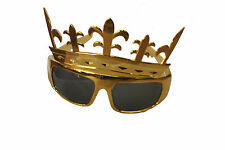 The Kings Crown Glasses 1960s Rock n Roll Fancy Dress Prince Sunglasses