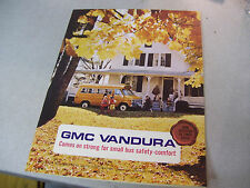Rare 1970 GMC Vandura School Bus Brochure with Specifications