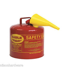 Type 1 Red Metal Saftey Gas Fuel Can Container 5 Gal w/ Spout Eagle UI-50-FS