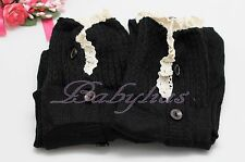 Boot Socks Lace Leg Warmers Crochet Knit Toppers Cuffs Knee High Long Legging