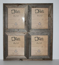 "8x10-2.5"" Wide Reclaimed Rustic Barn Wood Collage Photo Frame Holds 4 Photos"
