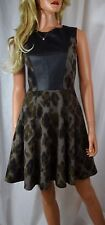 KAREN MILLEN Fit & Flare Military Inspired Dress Size US 4 UK 8 EU 36