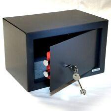 Tresor Safe Möbeltresor mit Doppelbart-Schlüssel -  ca.12l - anthrazit