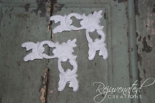 4 corner pieces / Shabby Chic Appliques / Furniture mouldings / onlays
