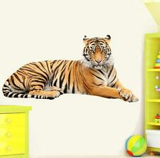 TIGER WILD WALL STICKER Decal mural for kids video Art Décor Removable home HUGE