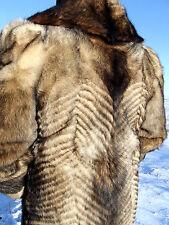REAL RACCOON FUR COAT XXXL TAXIDERMY