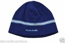 Dakine MONEY Blue White Knit Cap Hat Men's Beanie