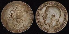 ENGLAND GB UK - 1918-KN Penny - George V - Scarce Mint!