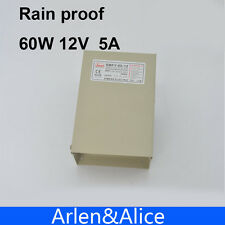60W 12V 5A Rainproof outdoor Single Output Switching power supply smps AC TO DC