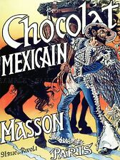 COMMERCIAL ADVERT MEXICAN CHOCOLATE PARIS FRANCE POSTER ART PRINT BB1915A