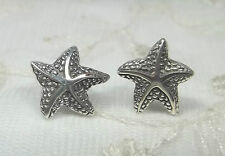925 Sterling Silver Starfish Earrings Post With Back New Ocean Nautical