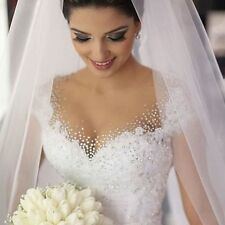 New White/Ivory Wedding Dress Bridal Gown Custom Size 6 8 10 12 14 16 +++