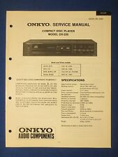 ONKYO DX-220 CD SERVICE MANUAL ORIGINAL FACTORY ISSUE THE REAL THING