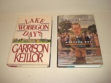 LAKE WOBEGON DAYS & WOBEGON BOY SIGNED By Garrison Keillor 1st Edition Book Lot