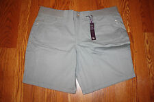 NWT Womens Gloria Vanderbilt Kristine Style French Toile Gray Casual Shorts 16