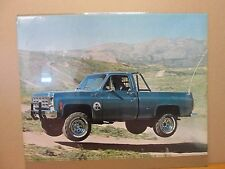 Vintage Chevy Truck original off road poster 11212