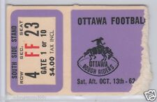 Vintage 1962 Ottawa Rough Riders CFL Football Ticket vs Saskatchewan Roughriders