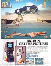 BIG RUN By JALECO 1989 ORIGINAL NOS VIDEO ARCADE GAME SALES FLYER BROCHURE