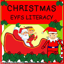 CHRISTMAS LITERACY TEACHING RESOURCES GAMES  EYFS KS1 Letters and Sounds  CD