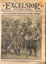 Poilus Soldats Régiment  Instruments de Musique Armée Française   WWI 1916