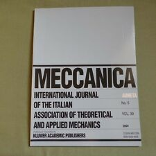 Meccanica 39_5 2004_International Journal of Theoretical and Applied Mechanics