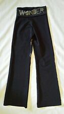 Zumba Yoga Fitness Pants Women's sz XS Fold Down Waist Nylon Blend Stretch Black